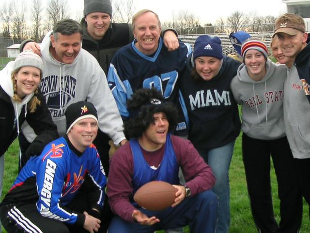 Brett LOVING the Clark-Hershey Turkey Bowl