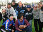 Brett LOVING the Clark-Hershey Turkey Bowl
