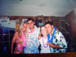 Katie, Me, Liz, and Brett     Sigma Chi Luau '03