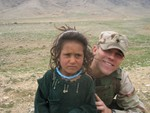 Hersh on March 20th with a little Afghan girl