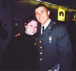 Mandy Madden and Brett in his class A uniform
