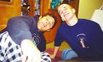 Brett and Ryan at IU in Brett's dorm freshmen year